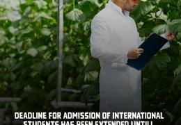 Срок приема иностранных студентов, желающих получить образование на всех уровнях обучения в Азербайджанском государственном аграрном университете (АDAU) на той же основе, что и граждане Азербайджанской Республики, был продлен до 10 сентября.